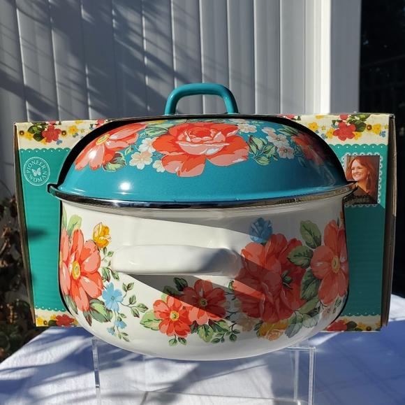 Pioneer Woman Vintage Floral 4-Quart Dutch Oven
